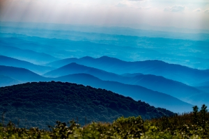 A beautiful view from atop Whitetop Mountain in southern Virginia.  Blueridge and Appalachian mountain ranges visible as far as the eye/lens can see.